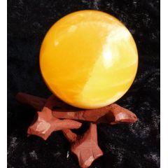 Kugel Orangencalcit 5 cm