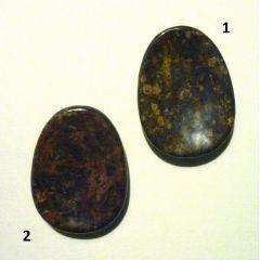 Daumenstein Jaspis - Leopardenfelljaspis