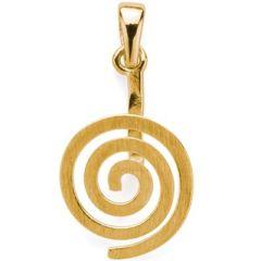 Donuthalter Spirale, Messing vergoldet
