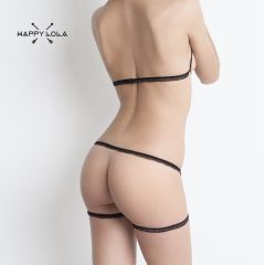 Dessous Set STRAPS von Happy Lola in schwarz