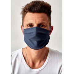 Huber Mund-Nasen Maske blau