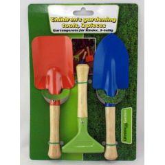 Gartengeräte für Kinder - Gärtnerset aus Metall - 3 Teile