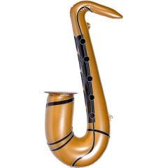 Saxophon aufblasbar - goldfarben 54 cm - Funartikel