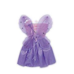 Kostüm Fee Lili - Rock, Flügel, Zauberstab - lila - Einheitsgröße für Kinder