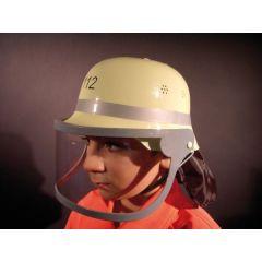 Helm - original deutscher Feuerwehrhelm mit Klappvisier für Kinder