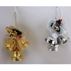 Weihnachtsglocken - Baumschmuck Glöckchen gold oder silber ca. 16 x 11 cm