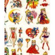 Sticker - Aufkleber - Laser-Sticker - Comicfiguren - Mangastyle - 50 Stück