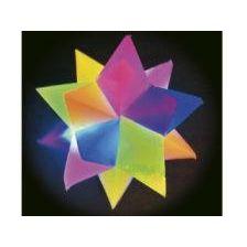 Flummi - Leucht-Kristall-Stern - springender leuchtender Stern - mit Licht