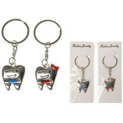 Schlüsselanhänger Zahn - für Mädchen und Jungen aus Metall