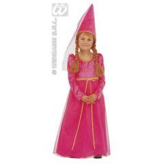 Burgfräulein pink - Kostüm - Fee - für Kinder - 4-5 Jahre