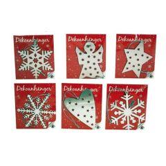 Dekoanhänger aus Metall - Weihnachten - ca. 7,5 cm - in sechs Ausführungen