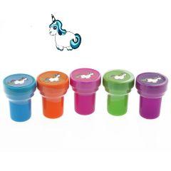 Einhorn Stempel 6er Set - farbige Stempel mit Einhornmotiv