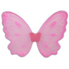 Feenflügel - Elfenflügel - rosa mit Glitzer - ca. 47 cm