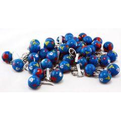 Globus Metall an Schlüsselanhänger - Durchmesser ca. 2,5 cm - kleine Weltkugel mit Schlüsselring