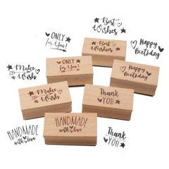 Holzstempel Magic Moments - Every Day ist Magic - 6 Ausführungen - ca. 5 x 2,5 x 2,5 cm