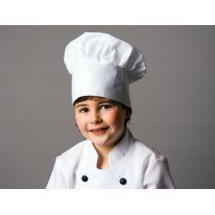 Kochmütze für Kinder weiß - Kostüm - Karneval / Fasching