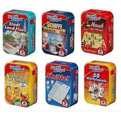 Schmidt Mitbringsel - Mini-Spiele in Metallbox - ca. 10 x 7 x 3 cm