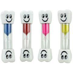 Sanduhr - Zahnputzuhr - Zahnform - Kinder - gelb blau rot oder pink