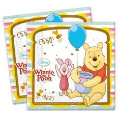 Servietten - 20 Stück - Winnie the Pooh - ca. 33 x 33 cm