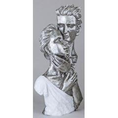 formano Skulptur Büste Paar, weiß silber, 40 cm