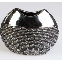 formano edle Blumenvase Black Rope aus Keramik, 26 x 21 cm