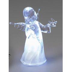 formano Engel aus Acryl mit Beleuchtung und gefalteten Händen, 10 cm