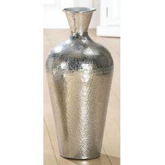 GILDE Deko Vase aus Aluminium gehämmert, 46 x 25 cm