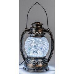 formano Metalllaterne mit Acryl, Wassereffekt und LED Licht, 23 cm