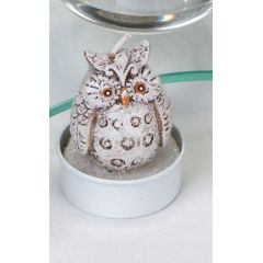Deko-Kerzen Teelichter Wintereule Satz 6 Stück 5 cm