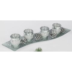 formano Teelichthalterset für den Advent Sterngirlande 44 x 10 cm