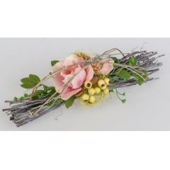 formano Frühjahrs Tischdekoration Magnolie rosa, 28 cm
