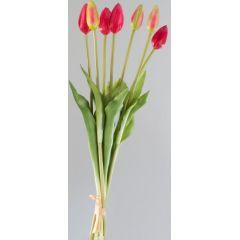 formano Kunstblume rote Tulpen im Bündel, 7 Stück, 42 cm