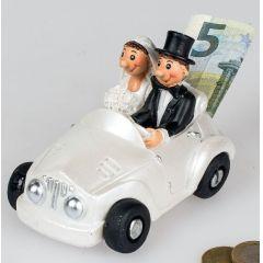 formano Spardose Brautpaar im Auto aus Keramik, 11 cm