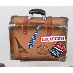 formano nostalgische Spardose Sparbüchse Koffer in Braun, 15 cm
