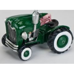 formano Spardose Sparbüchse Traktor in Grün aus Keramik, 20 cm