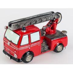 formano Spardose Feuerwehrauto in Rot aus Keramik, 18 cm