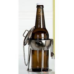 GILDE Bierflaschenhalter aus lackiertem Metall, 13,5 x 13,5 x 15 cm