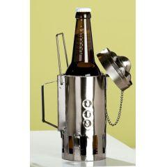 GILDE Bierflaschenhalter aus lackiertem Metall, 12 x 20 x 9 cm