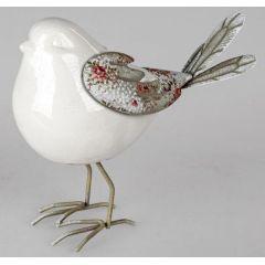 formano Vogel Dekofigur aus Porzellan und Metall, 20 cm