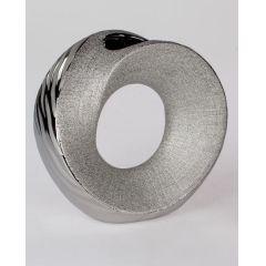 formano moderne Blumenvase in Wave Silber, Keramik, 23 cm