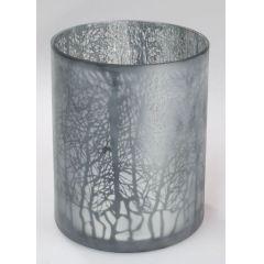 formano Windlicht Winterzeit mattes Farbglas 20 x 20 cm