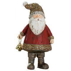 GILDE Dekofigur Santa in Braun Rot Gold, 8 x 16 cm