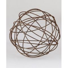 formano Dekokugel aus Metall, rostig, 30 cm