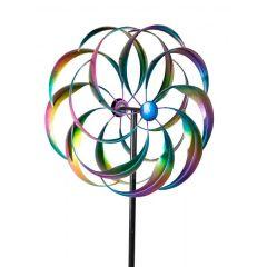 formano Windrad aus Metall Spirale mit Stange, 52/160 cm