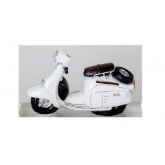 formano nostalgische Spardose Sparbüchse Roller in Weiß, 16 cm