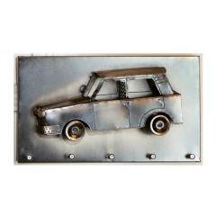 GILDE Schlüsselleiste Auto, vernickelt, 35,5 x 20 cm