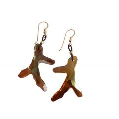 Ohrringe Koralle Vergoldet MADE WITH SWAROVSKI ELEMENTS® 3 cm