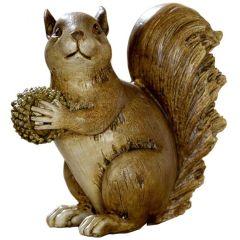 Eichhörnchen-Deko Figur mit Eichel-Futter braun 13,5 x 12 x 13 cm
