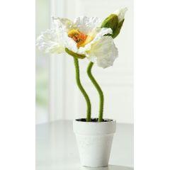 GILDE Deko-Blume Mohn im Keramiktöpfchen, 30 cm
