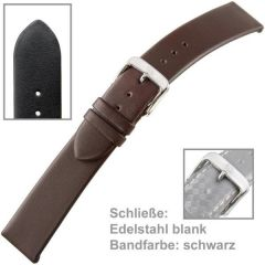 Uhrenarmband Men schwarz, 22 mm